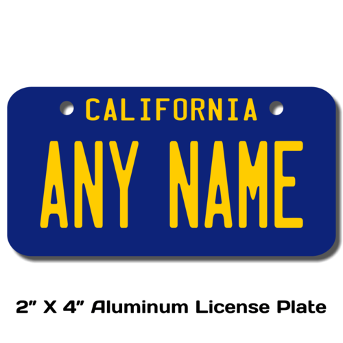 Personalized California 2 X 4 License Plate