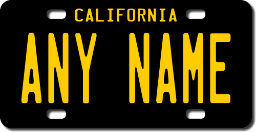 Personalized California License Plate for Bicycles, Kid's Bikes, Carts, Cars or Trucks