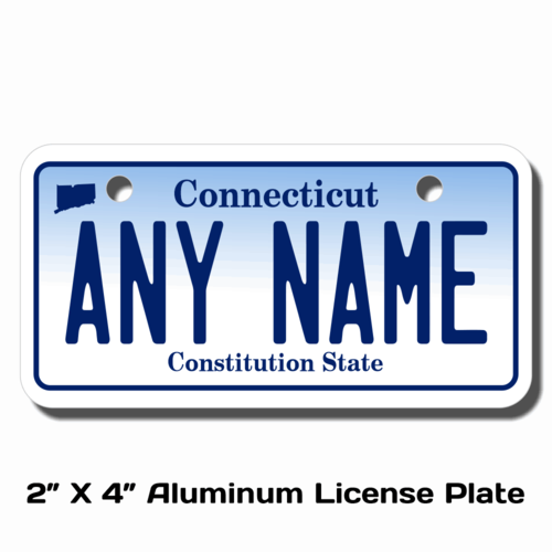 Personalized Connecticut 2 X 4 License Plate