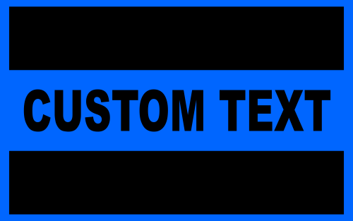 Custom Reflective Blue Line Decal