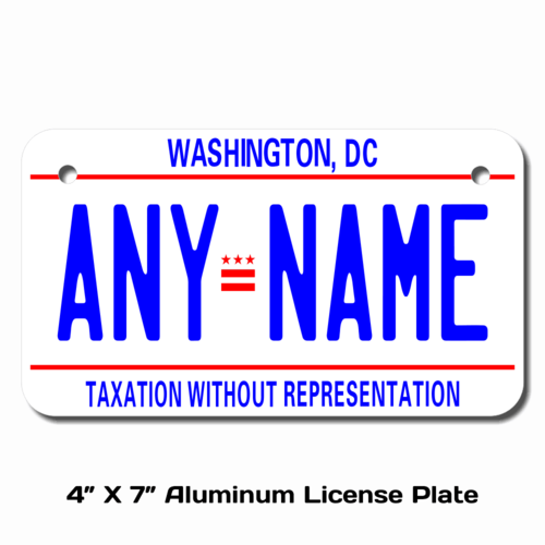 Personalized District of Columbia 4 X 7 License Plate