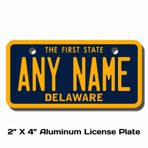 Personalized Delaware 2 X 4 License Plate