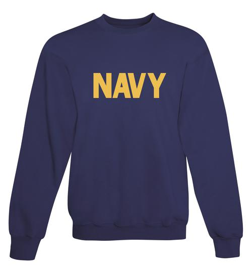 25e2a84b84e CLEARANCE US Navy Sweatshirt Navy Blue w  Athletic Gold Imprint SIZE XL -  Teamlogo.com