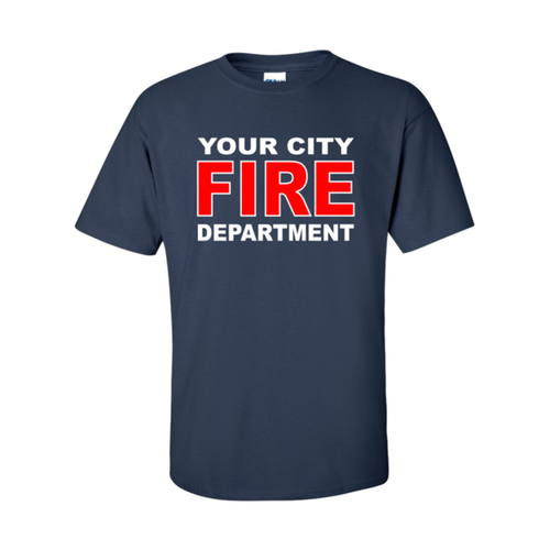 54b4b9ea8 Custom Fire Department T-shirt (FIRE9TS) - Teamlogo.com | Custom Imprint  and Embroidery