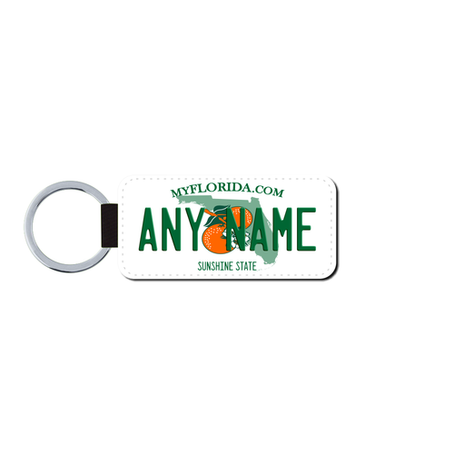 Personalized Florida 1.5 X 3 Key Ring License Plate