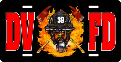 Personalized Fire Department License Plate for Bicycles, Kid's Bikes, Carts, Cars or Trucks