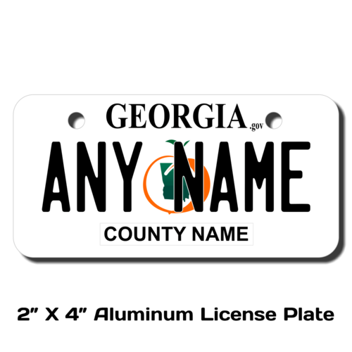 Personalized Georgia 2 X 4 License Plate
