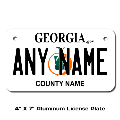 Personalized Georgia 4 X 7 License Plate