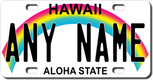 Personalized Hawaii License Plate for Bicycles, Kid's Bikes, Carts, Cars or Trucks