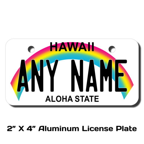 Personalized Hawaii 2 X 4 License Plate
