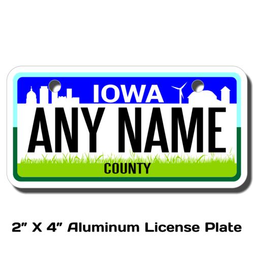 Personalized Iowa 2 X 4 License Plate