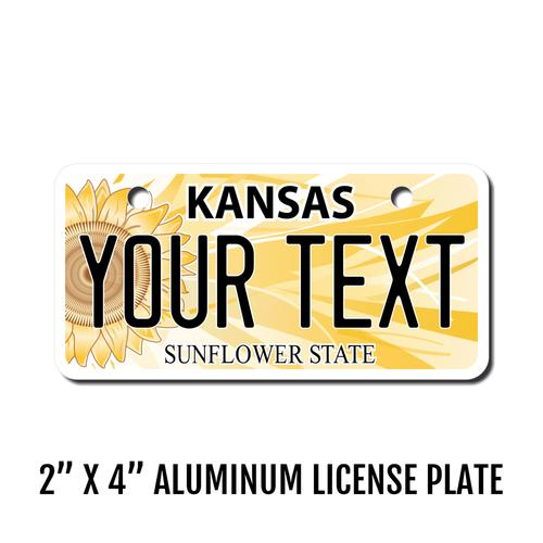 Personalized California 2 X 4 License Plate