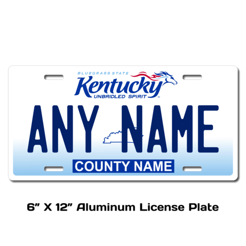 Personalized Kentucky 6 X 12 License Plate