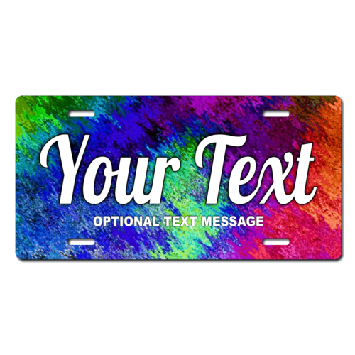 Personalized Multi-Colored License Plate for Bicycles, Kid's Bikes, Carts, Cars or Trucks