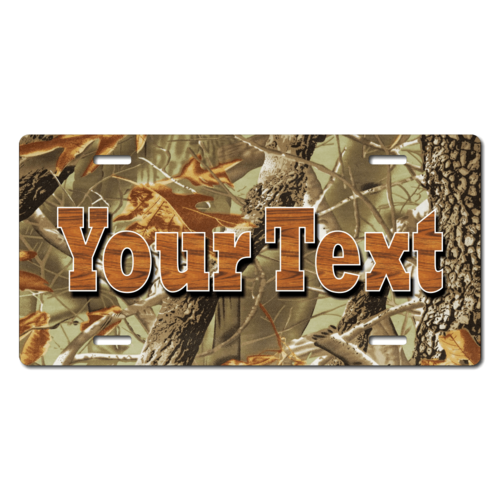 Personalized Leaf/Tree Camouflage License Plate for Bicycles, Kid's Bikes, Carts, Cars or Trucks