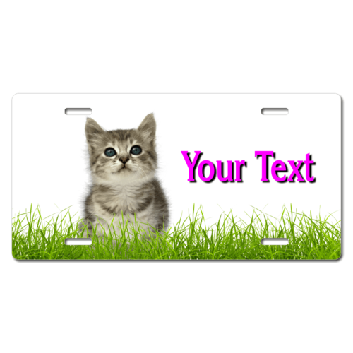Personalized Kitten License Plate for Bicycles, Kid's Bikes, Carts, Cars or Trucks