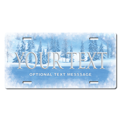 Personalized Frozen Ice License Plate for Bicycles, Kid's   Bikes, Carts, Cars or Trucks