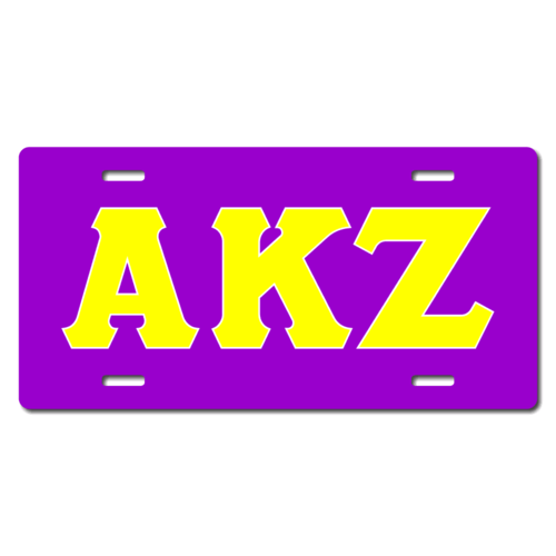 Personalized Greek Letters License Plate for Bicycles, Kid's Bikes, Carts, Cars or Trucks