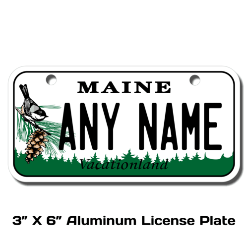 Personalized Maine 3 X 6 License Plate