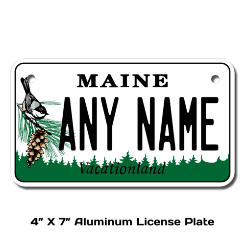 Personalized Maine 4 X 7 License Plate