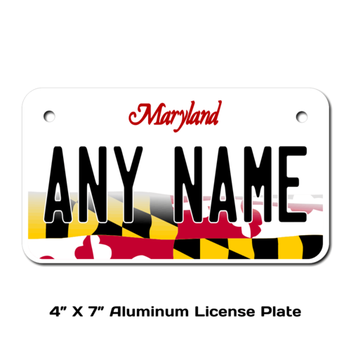 Personalized Maryland 4 X 7 License Plate