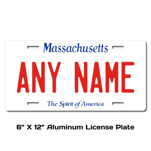 Personalized Massachusetts 6 X 12 License Plate
