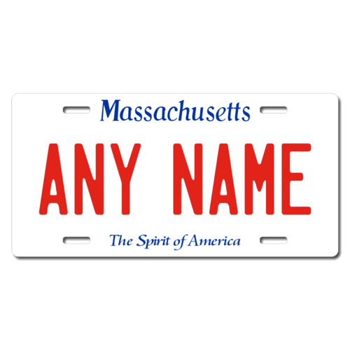 Personalized Massachusetts License Plate for Bicycles, Kid's Bikes, Carts, Cars or Trucks