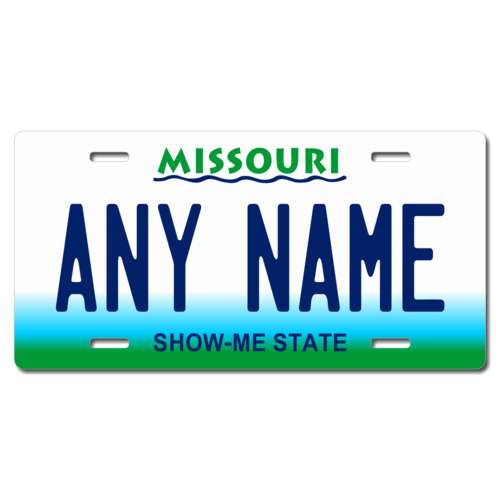 Personalized Missouri License Plate for Bicycles, Kid's Bikes, Carts, Cars or Trucks