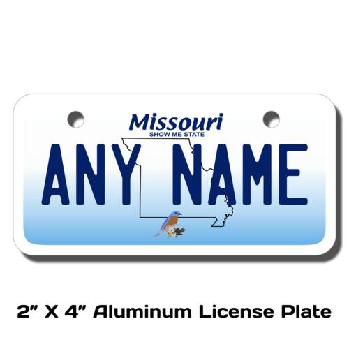 Personalized Missouri 2 X 4 License Plate