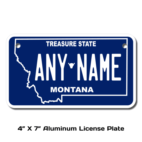 Personalized Montana 4 X 7 License Plate
