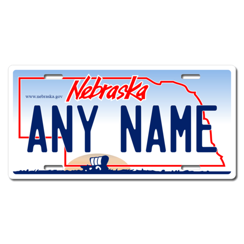 Personalized Nebraska License Plate for Bicycles, Kid's Bikes, Carts, Cars or Trucks