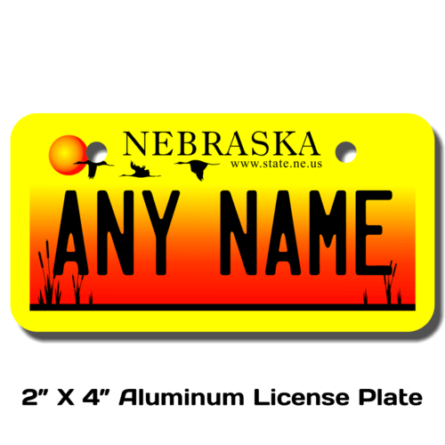 Personalized Nebraska 2 X 4 License Plate