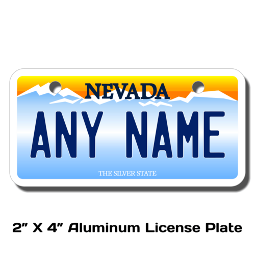 Personalized Nevada 2 X 4 License Plate