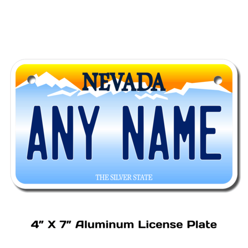 Personalized Nevada 4 X 7 License Plate