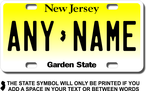 personalized new jersey license plate for bicycles kid s bikes