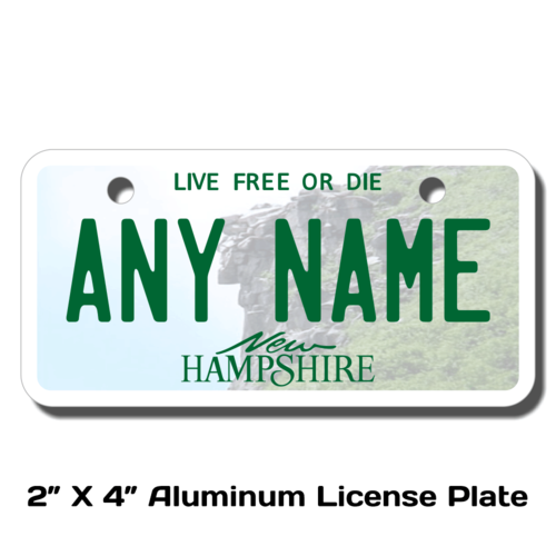 Personalized New Hampshire 2 X 4 License Plate