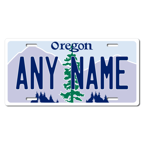 Personalized Oregon License Plate for Bicycles, Kid's Bikes, Carts, Cars or Trucks