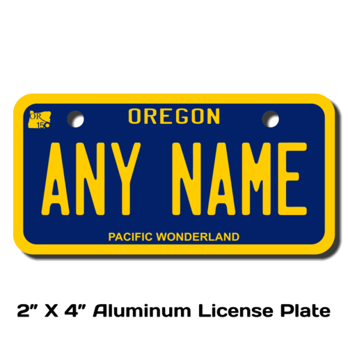 Personalized Oregon 2 X 4 License Plate