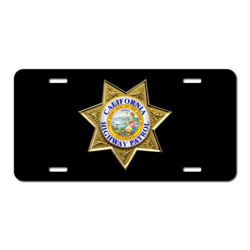 Custom 7 Point Law Enforcement License Plate