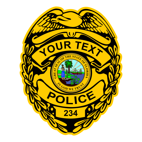 Custom Police Shield Vinyl Decal