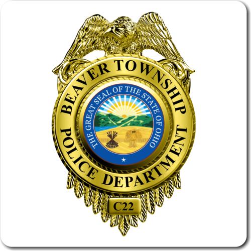 Custom Reflective Police Badge Decal