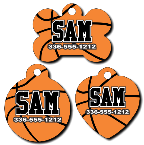 Personalized Basketball Pet Tag for Dogs and Cats