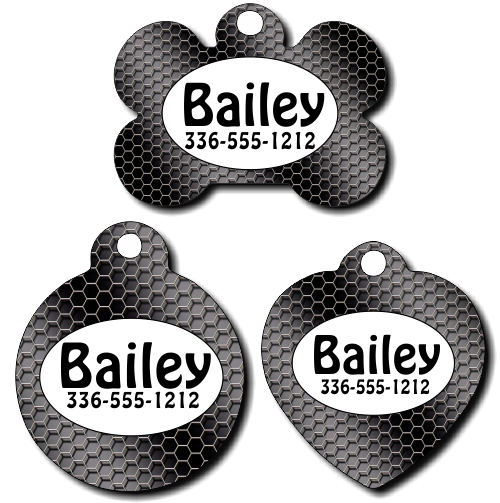 Personalized Black Wire Pet Tag for Dogs and Cats