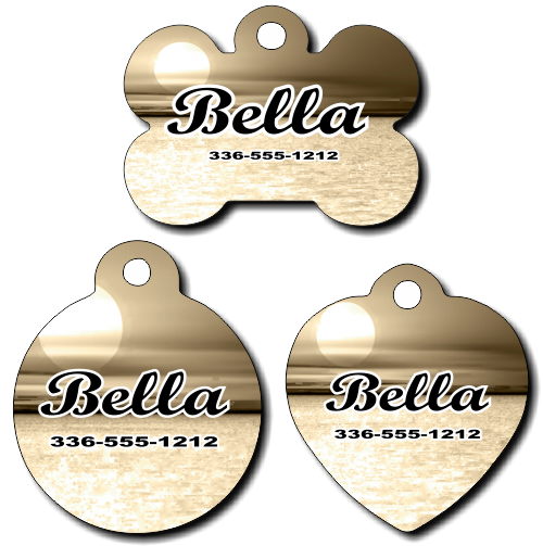 Personalized Sunset Background Pet Tag for Dogs and Cats