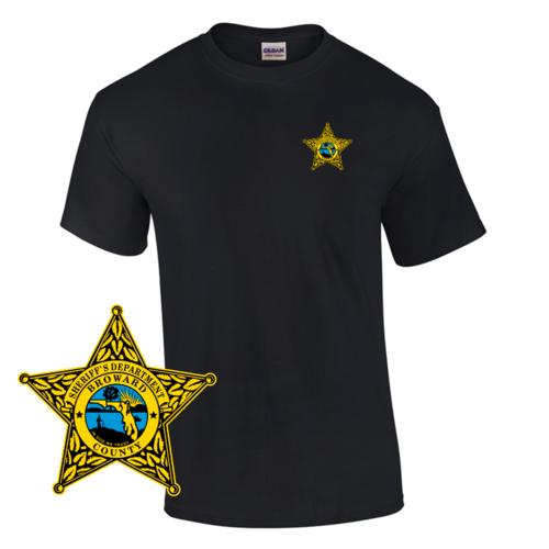 Law Enforcement Badge T-shirt Style Sheriff 2 Custom Imprinted T-shirt
