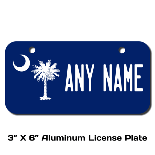 Personalized South Carolina 3 X 6 License Plate