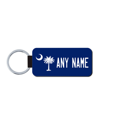 Personalized California 1.5 X 3 Key Ring License Plate
