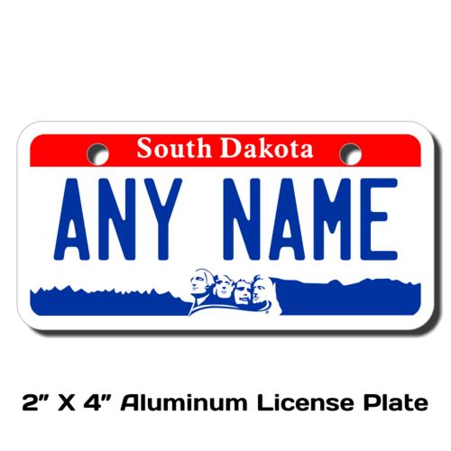 Personalized South Dakota 2 X 4 License Plate
