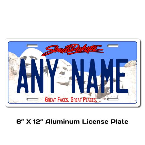 Personalized South Dakota 6 X 12 License Plate