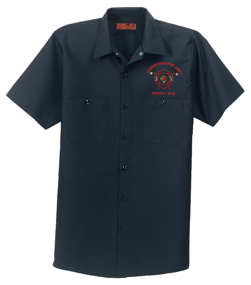 Red Kap - Short Sleeve Industrial Work Shirt - Includes Personalized Embroidery